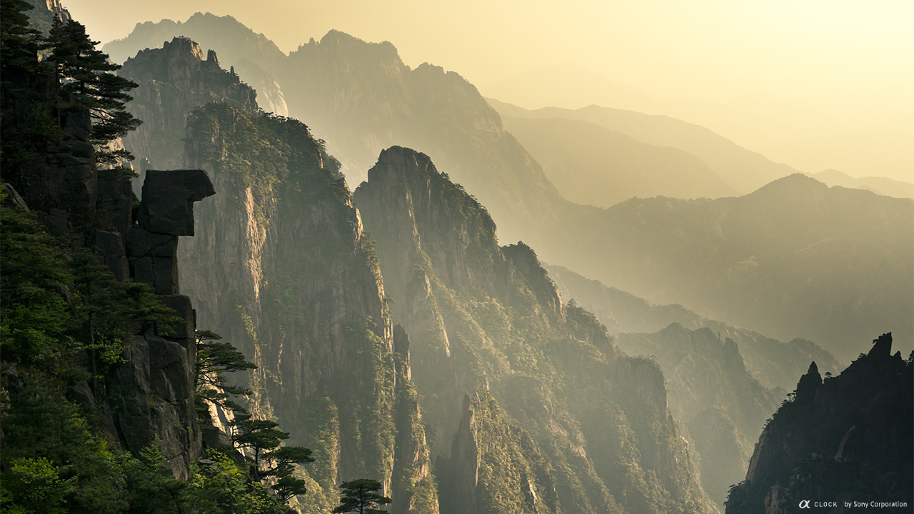 Sony - α CLOCK: world time, captured by α Mount Huangshan