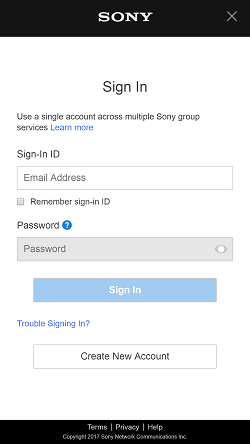 Sony Global - UX Support